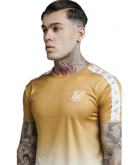 7010d84a4 ᐈ Camiseta SikSilk S S Taped Fade Gym Tee – Black Atmosfera©