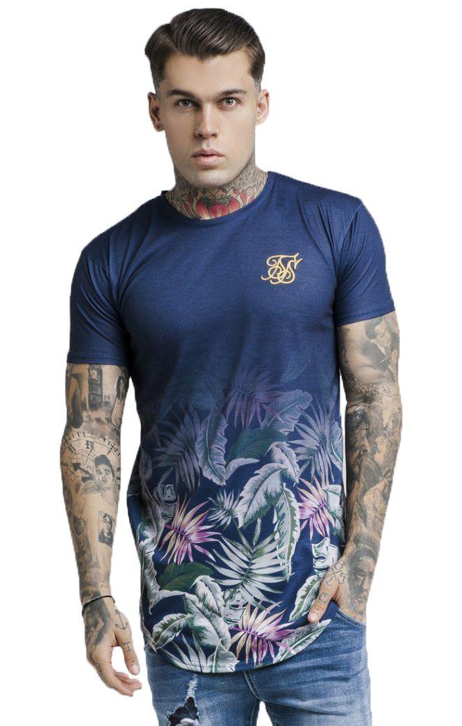 725f192af ᐈ Camiseta Sik Silk Jeremy Vine Curved Hem Tee – Black Atmosfera©