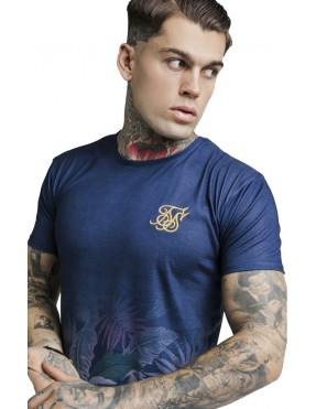 Camiseta Sik Silk Jeremy Vine Curved Hem Tee