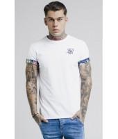 Camiseta SikSilk Jeremy Vine Rolled Sleeve Scoop Tee