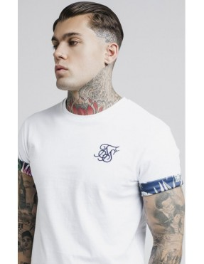 Camiseta Sik Silk Jeremy Vine Rolled Sleeve Scoop Tee