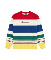 Sudadera Champion Stripped Logo Crewneck