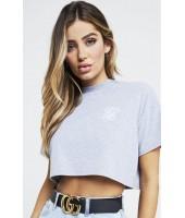 Camiseta SikSilk Retro Box Crop Tee