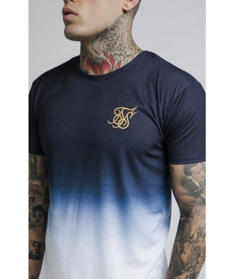Camiseta SikSilk Curved Hem Tri Fade Tee