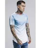 Camiseta SikSilk Raglan Fade Tape Gym Tee