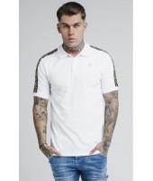 Polo SikSilk Taped Pique Polo Shirt