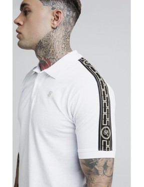 Polo SikSilk Taped Pique Polo Shirt