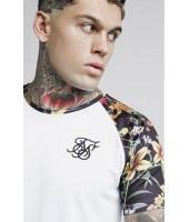 Camiseta SikSilk Secret Garden Raglan Curved Hem