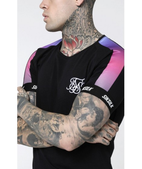 Camiseta Siksilk Panel Fade
