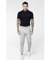Camiseta SikSilk Strech Fit Zip Collar Polo