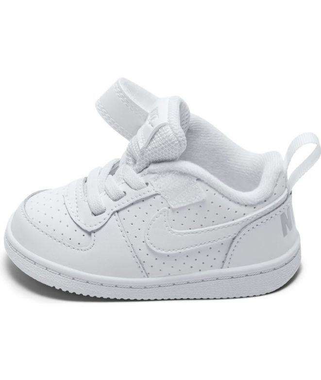 59c709c63 ᐈ Zapatilla Nike Court Borough Low para Bebé en Blanco – Black ...
