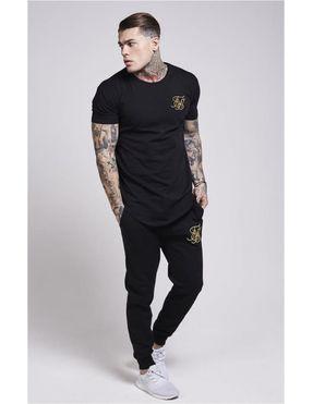 Camiseta Manga Corta Siksilk | Negro