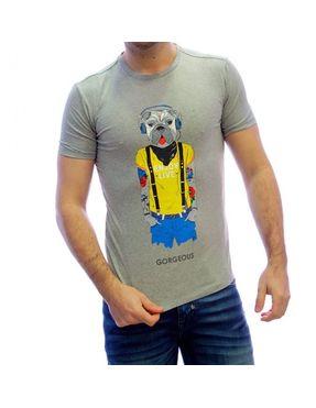 Camiseta Chico Gorgeous perro gris