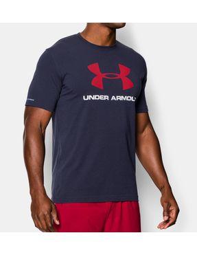 Camiseta Deportiva Logo para Hombre Negra