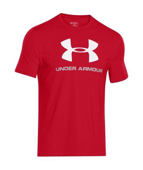 Camiseta Deportiva Logo para Hombre Roja