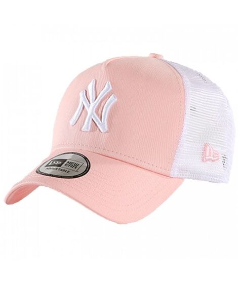 9894cfa0592fb ᐈ Gorra trucker NY Yankees Clean A Frame Rosa – Black Atmosfera©