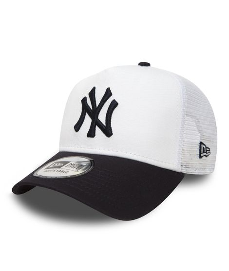 Gorra trucker NY Yankees Clean A Frame Blanca y Negra