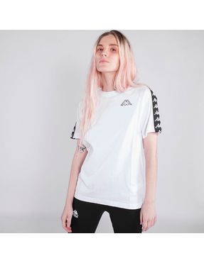 Camiseta Kappa Coen Slim Blanca con Banda