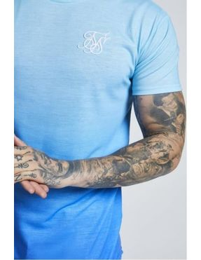 Camiseta SIKSILK Faded Azul Claro Degradado Azul