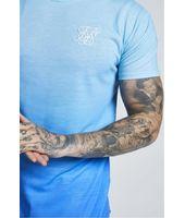Camiseta SIKSILK Faded Azul Claro Degradado Azul