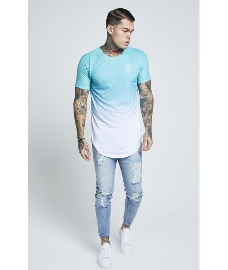 Camiseta SikSilk Curved Faded para Hombre