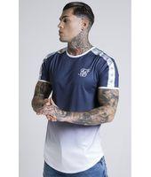 Camiseta Taped Fade Gym en Azul para Hombre