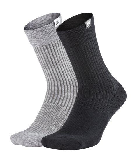 Calcetines Nike Sportswear Sneaker Sox Unisex JDI (2 pares) en Gris/Negro