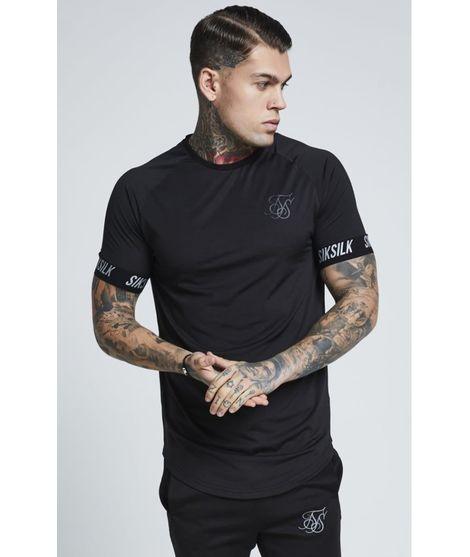 Camiseta SikSilk Tech en Negro para Hombre