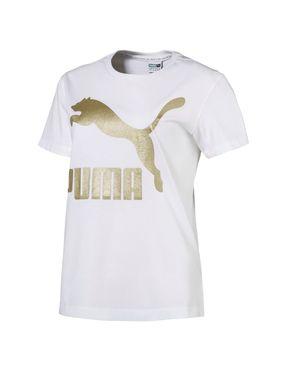 Camiseta Classics Logo para Mujer - Blanco
