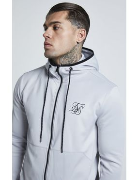 Chaqueta con Capucha SikSilk Agility Zip Through para Hombre - Gris Claro