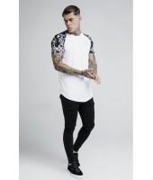 Camiseta Siksilk Silver Venetian Raglan - Blanca