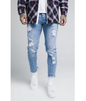 Pantalones Vaqueros Siksilk Raw Cuff