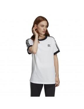 Camiseta 3 bandas en Blanco para Mujer